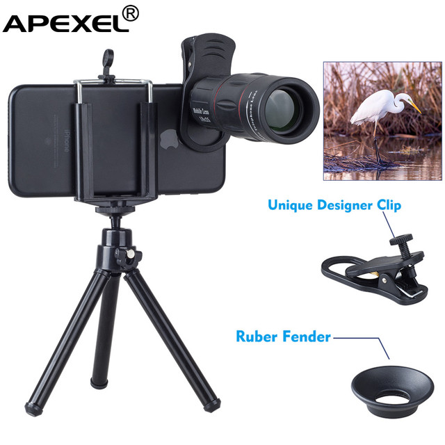 94bc5bbdcdbc0d Cell Phone 18X Optical Manual Focus Zoom Telephoto Lens Kit with Mini  Flexible Tripod for Phone
