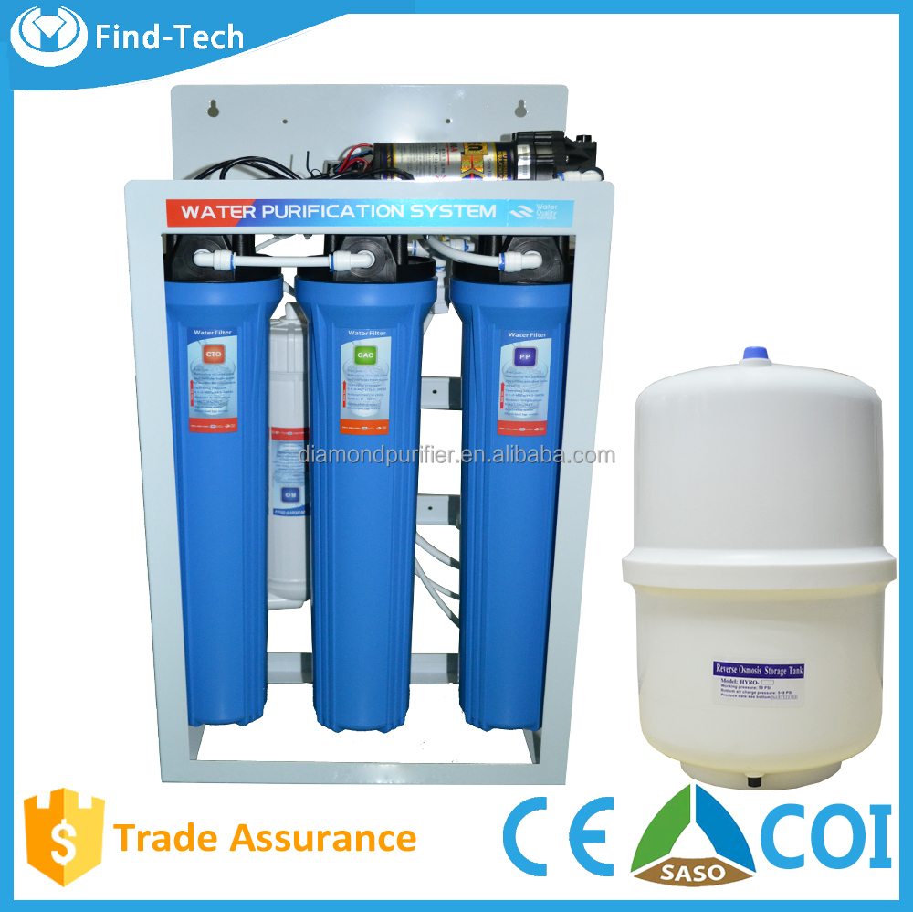 400/600/800GPD commercial RO water filter systemS EQUIPMENT purifying machine price with steel bracket
