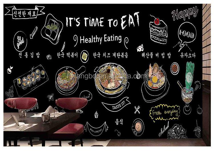 3d st r o tableau noir craie graffiti papier peint murale restaurant barbecue hot pot magasin. Black Bedroom Furniture Sets. Home Design Ideas