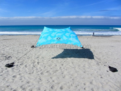 Portable Colorful Sun Shade Beach Lycra Tents