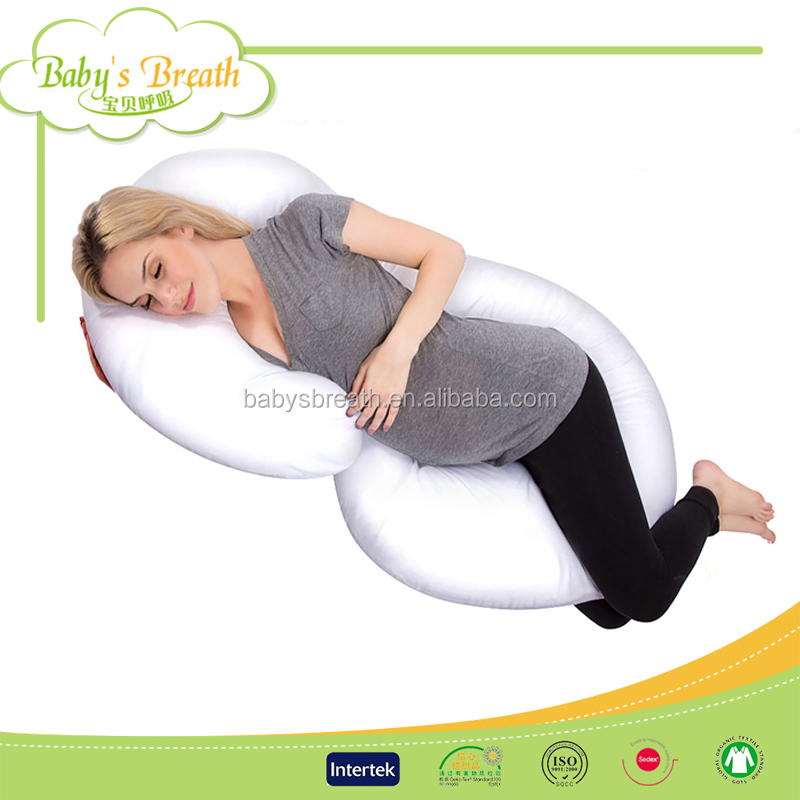 PP07 G Shape Pregnant Women Pillow Comfort Support Waist Pregnancy Wedge Pillow