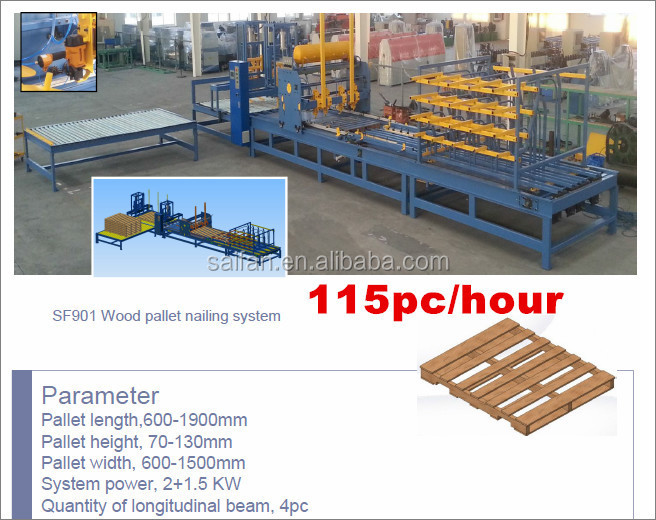 SF901 wood pallet assembly machine nail gun machine