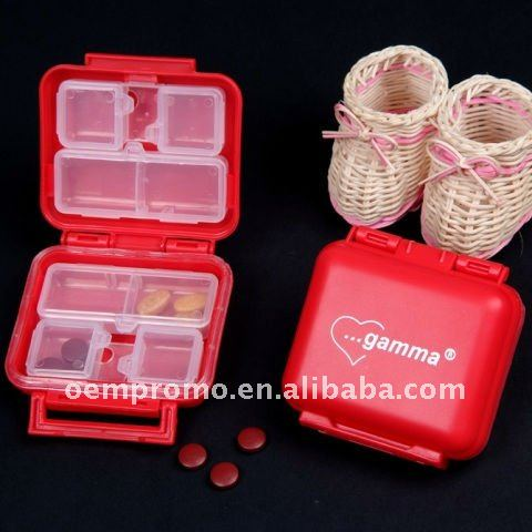 Household plastic pill box, candy box,food box