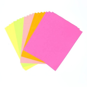 Reasonable price self adhesive A4 size fluorescent colorful sticker paper