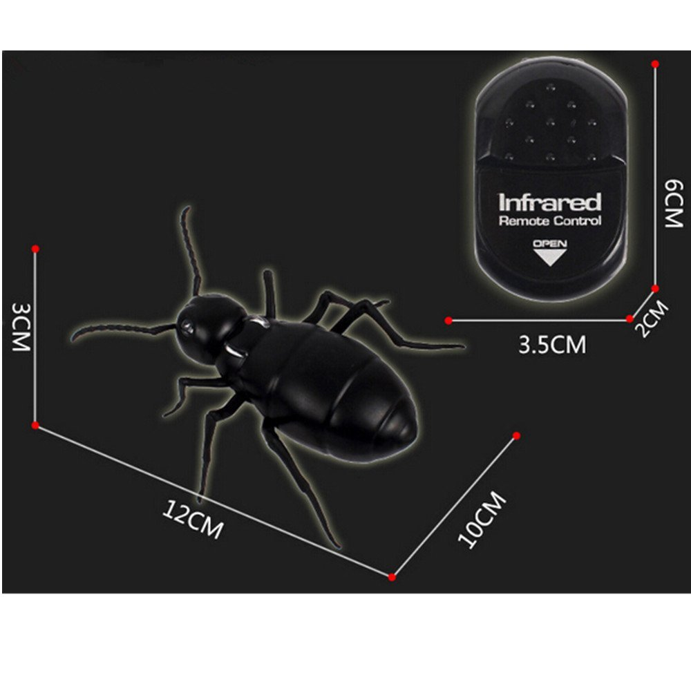 Infrared RC Ant Remote Control Mock Fake Big Ant RC Toy Prank Reptile  Insects Joke Scary Trick Bugs for Party - us822 1b3195e9735