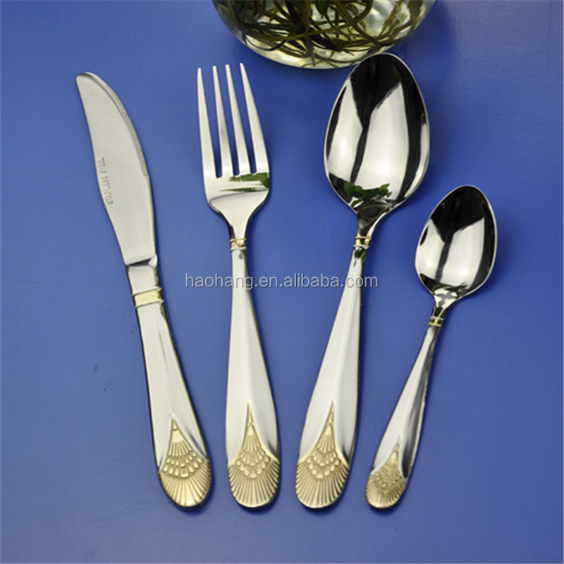 Top Quality Golden Flatware Stainless Steel Spoons Forks