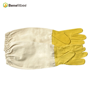 High Quality Bee Keepers Protective Golden sheepskin & Canvas Gloves /Bee Keeping Gloves