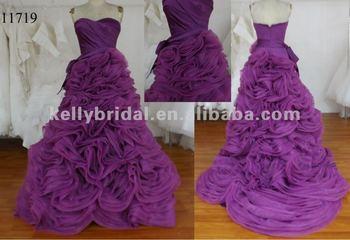 Hot Purple Wedding Dresses