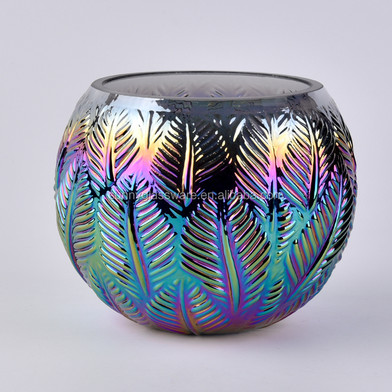 Unique peacock design decorative glass candle holders
