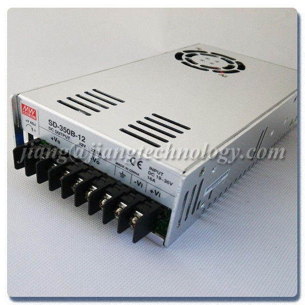 MW Mean Well SD-350D-24 24V 14.6A Enclosed Single Output DC-DC Converter