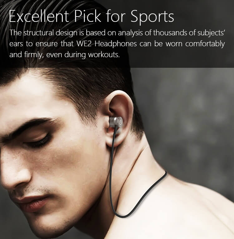 Jakcom WE2 Wearable wireless Headphones 2018 New Product Of Earphone Accessories as wireless earphone Fashion sell with speaker