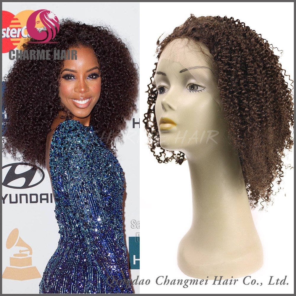 Malaysian Hair Afro Kinky Curly Full Lace Human Hair African Braided Wig