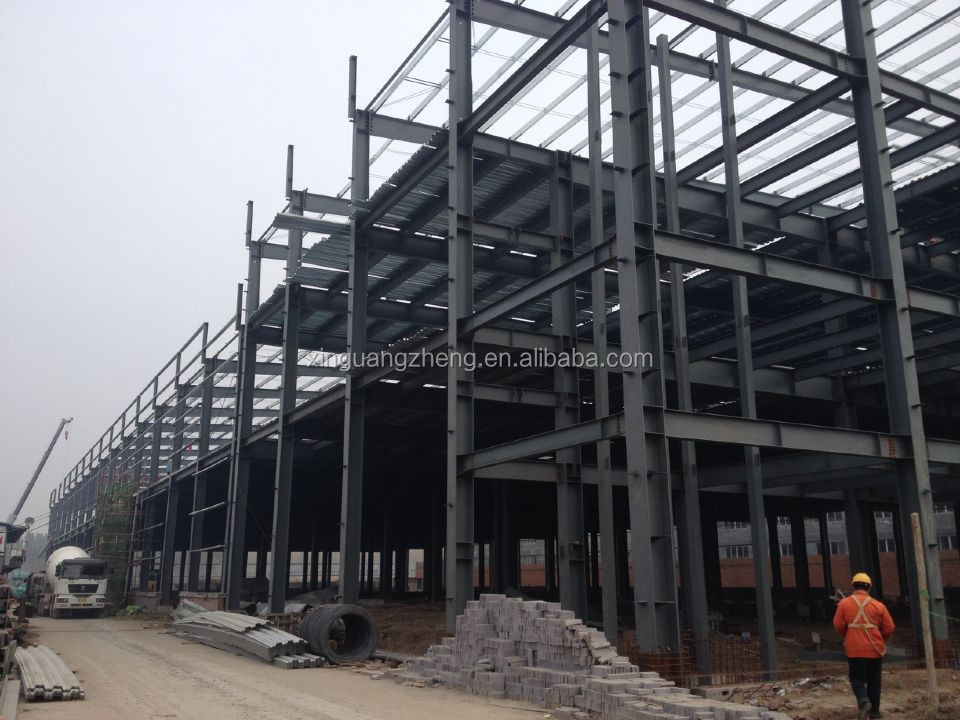 prefabricated industrial steel structure building shed with good price