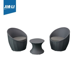 Modern Cafe furniture Rattan Eggs sofa set patio sofa set
