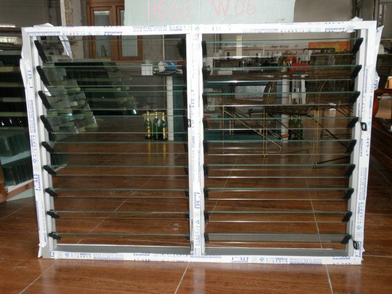 Precio de vidrio marco de aluminio ventanas de persianas - Precio del vidrio ...