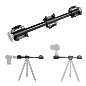 Aluminum 3/8 Screw Support Four Mounts Tripod Arm Rock Solid Cross Bar Side Arm
