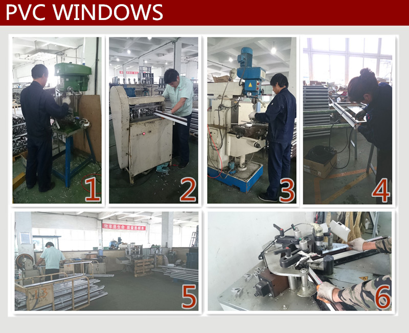 OEM pvc extrusion profiles accessories for louver windows china
