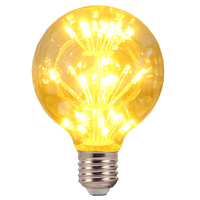 Decorate Home E27 E26 golf star lighting, Dimmable clear amber vintage Edison LED Bulbs Ampoule Lamp bulb