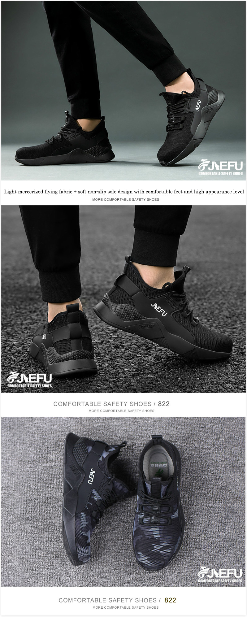TZLBX-022 Factory wholesale high quality sport breathable safety shoes