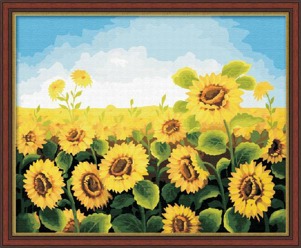 sunflower diy piant by numbers kit for kids