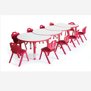 China cheap new items school furniture kids study table children's plastic table and chairs