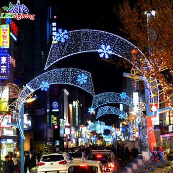 Outdoor Led Large Christmas Motif Across Street Lights For City