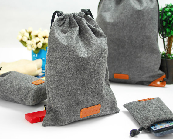 Felt Drawstring Bags, Traveling Packing Bags, Gift Bags Gathering ...