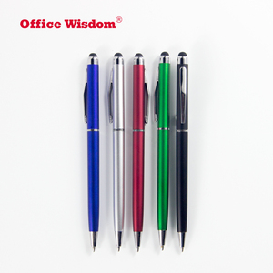 Custom Logo High Sensitive Capacitive Touch Screen Stylus Plastic Ballpoint Pen