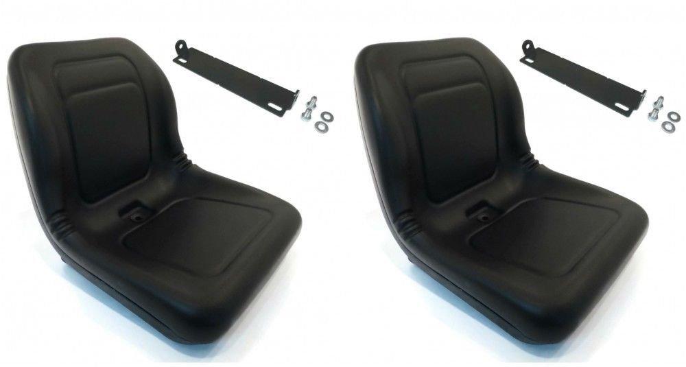 (2) Black HIGH BACK SEATS w/ Pivot Rod Bracket for John Deere AM117924 AM116408 supplier_id_theropshop, #UGEIO227261900367978