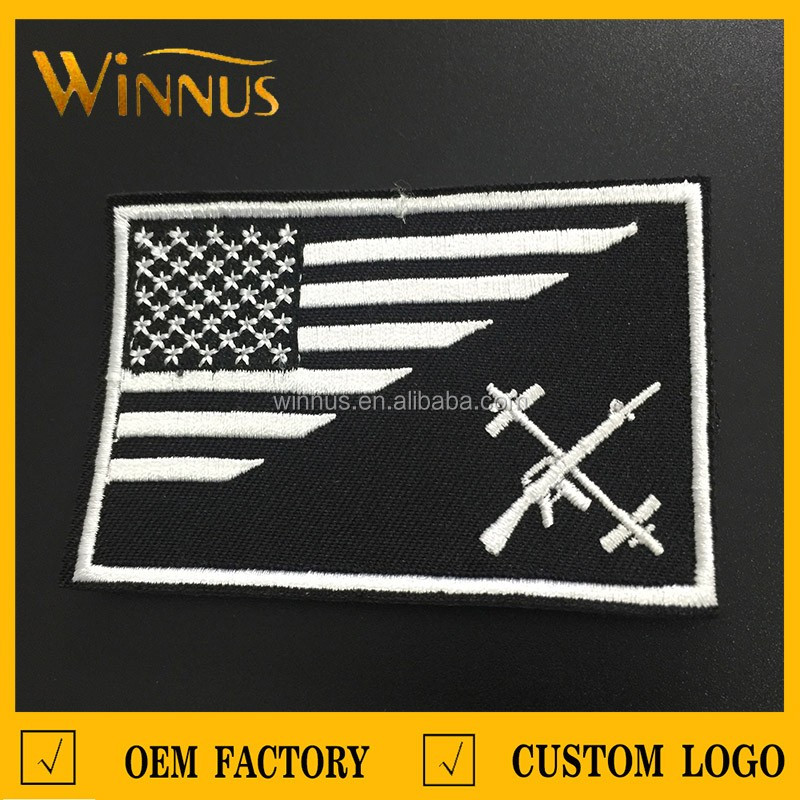 No minimum iron on cheap custom embroidered patches buy