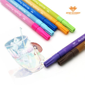 Castle Art Supplies Paint Pens - 12 Vibrant Colored Oil Based Markers. Color on Rocks, Metal, Wood, Glass and More.