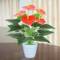 Fake plants Artificial plastic Flower plants For Home indoor outdoor Decor