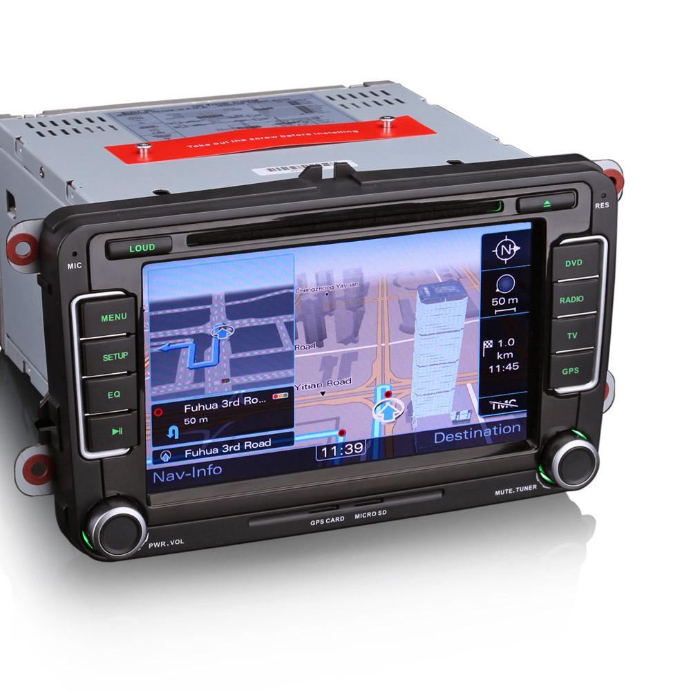 """Erisin ES7298C 7 """"टच स्क्रीन कार डीवीडी प्लेयर जीपीएस के लिए पोलो वी 6R"""
