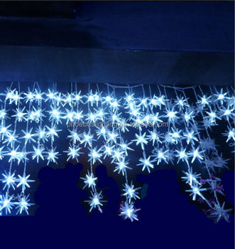 led christmas dripping star icicle light