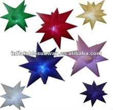 inflatable stars with led light/ inflatable led stars