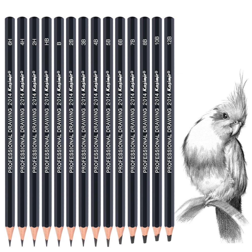 Get quotations · 14pcs set art sketch pencils 12b10b8b7b6b