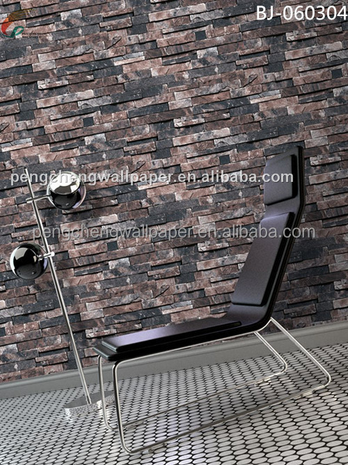 3d pierre papier peint brique papiers peints pour la maison bar d coration papiers peints enduit. Black Bedroom Furniture Sets. Home Design Ideas