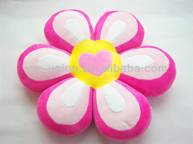 2016 promotional gift items NEW ARRIVAL 100% Cotton Material flower custom plush pillow