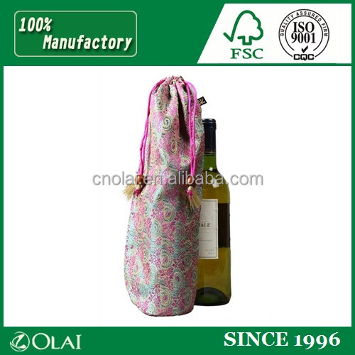 New jute fabric wine bag with customized logo
