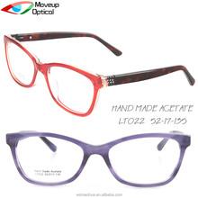 Moveup Óptica Preços Por Atacado Retro Óculos de Armação de Acetato Óptica  Quadros Lentes Prontas b2cc2c95cc