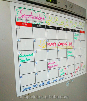 Dry Erase Monthly Weekly Magnetic Fridge Refrigerator Whiteboard