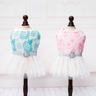 Factory direct supply puppy princess style dog dresses /shirt pet clothes with nice price