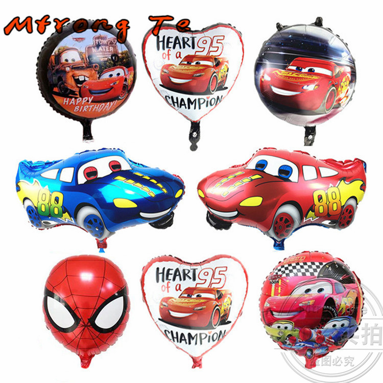 New foil Balloons Super Hero Baby Shower Toy Children Gift Birthday Party Decoration Cartoon Car Foil Balloons