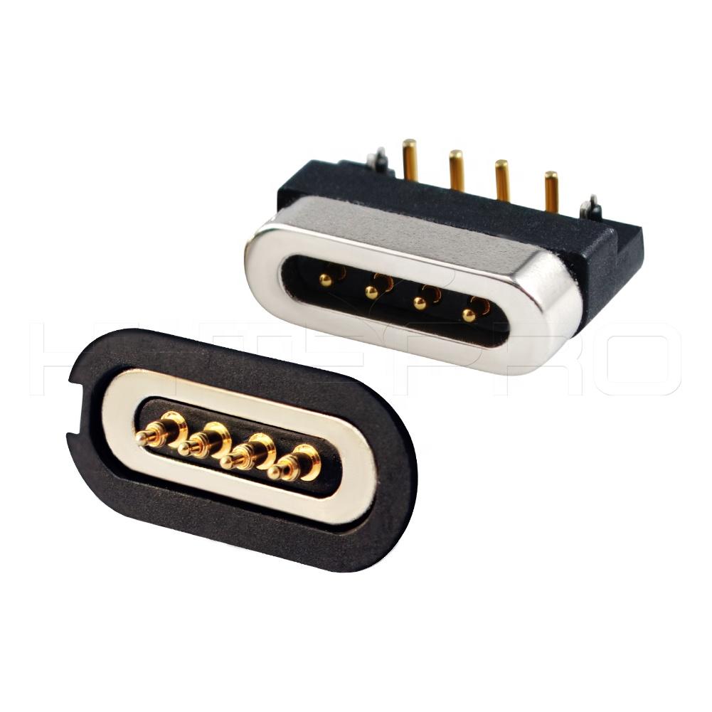fd2c7bfacb9 Nueva llegada cargador 4 pogo pin conector magnético adaptador de corriente  dc