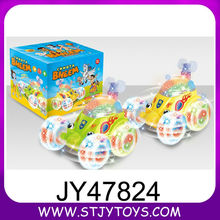 Lovely cartoon toy car baby plastic electric toy car with light&music