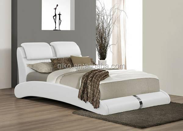 Nieuwe aankomst 2015 madison zwarte moderne bed met gestoffeerd hoofdbord koningin mb8018 - Modern hoofdbord ...