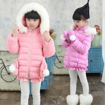 7db978bbc Zm43238a Kids Clothes Girls Winter Coat 2017 Baby Winter Snowsuit ...