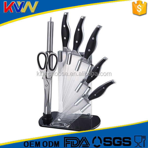 High quality 8pcs stainless steel royalty switzerland kitchen knife set