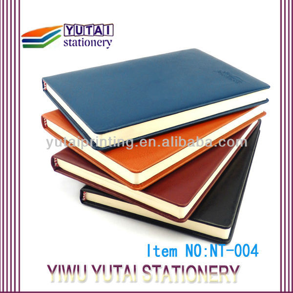 Customized logo print moleskin notebook wholesale