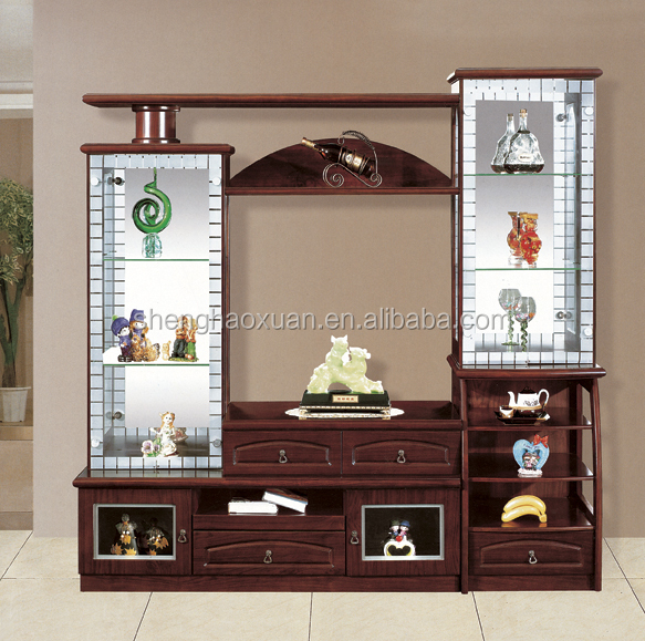 India market living room furniture lcd tv wall units 808 for Lcd unit design for living room
